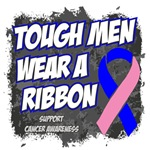 Male Breast Cancer Tough Men Wear A Ribbon Shirts