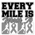 Every Mile is Worth it Brain Cancer Shirts