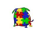 Autism Puzzle Dog