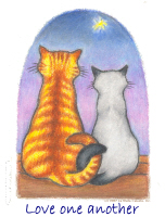 Love One Another - Cute Cats
