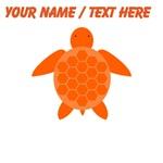 Custom Orange Sea Turtle