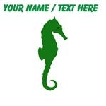 Custom Green Seahorse