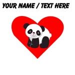 Custom Cute Panda Heart