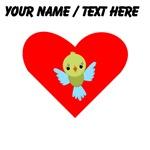 Custom Cartoon Bird Heart
