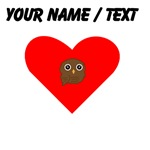 Custom Brown Owl Heart