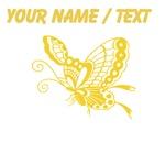 Custom Yellow Butterfly Art