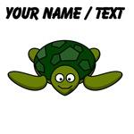 Custom Happy Sea Turtle