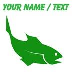 Custom Green Trout Silhouette