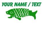 Custom Green Coy Fish