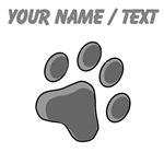 Custom Grey Cat Paw Print