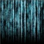Digital Rain - Blue