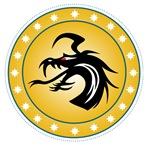 Gold Round Dragon Icon