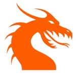 Orange Scary Dragon