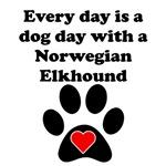 Norwegian Elkhound Dog Day