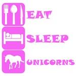 Pink Eat Sleep Unicorns