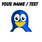 Custom Blue Penguin