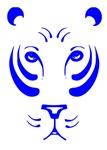 Blue Tiger Face