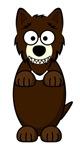 Brown Wolf Cartoon