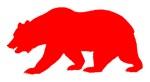 Red California Bear