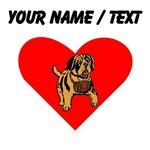 Custom St Bernard Puppy Heart