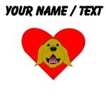 Custom Golden Retriever Heart