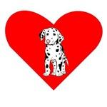 Dalmatian Puppy Heart