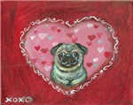 Pug Valentine xoxo