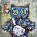 Cute Owl Mom & Baby
