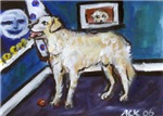 HUNGARIAN KUVASZ dog art