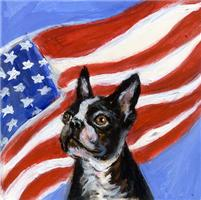 BOSTON TERRIER American Flag Design 