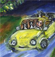 BOSTON TERRIER car ride Design