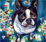 Boston Terrier shredder mischief