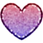 Patriotic Star Heart