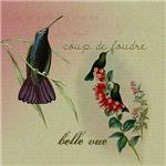 Vintage French Hummingbirds