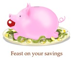 Feast on Your Savings Suckling Piggy Bank