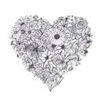 Flower Heart Doodle