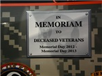 Veterans memorial sign - Office, pet and auto sect