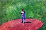 Baseball player as painting - Office, pet and auto