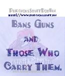 PreciousStuffDotBiz Bans Guns