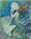 Art Deco Roaring 20s Mermaid With Pearl