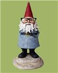Hipster Garden Gnome with Eyeglasses Nerd Kitsch
