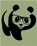 Hipster Panda Wearing Trendy Eyeglasses Kawai