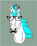 Hipster Unicorn Funny Humor Retro