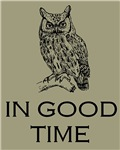 Owl in Good Time Mantra New Age Affirmation