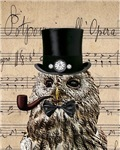 Victorian Steampunk Owl Sheet Music