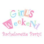 Girls Weekend Bachelorette Party Tshirts