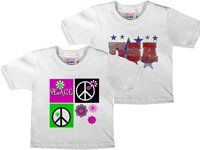 Patriotic USA & Peace T shirts