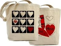 Valentine and Love Tote Bags