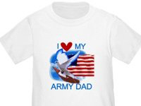 US Flag and Dove Army T-shirts and Gifts