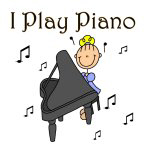 I Play Piano Stick Figure